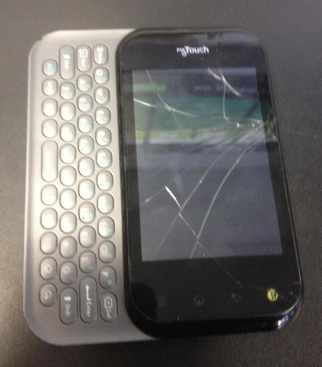 LG MyTouch slide phone with broken digitizer