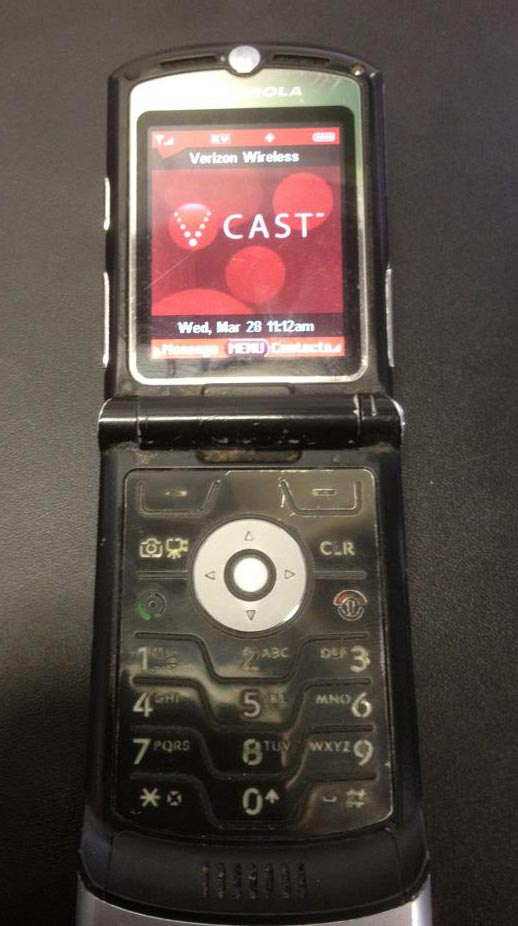 Razr phone stuck on welcome screen
