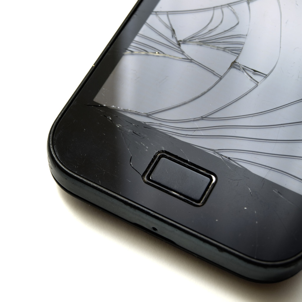 Smashed smartphone