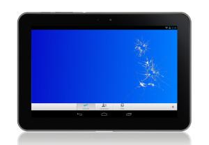 broken tablet dispay
